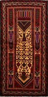Tribal Geometric Balouch Hand-Knotted Area Rug Home Decor Oriental Carpet 3x6