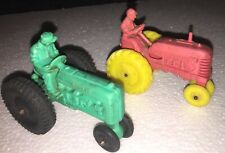 2 Auburn & Barr Rubber Company Farm Tractor Vintage Toy Machinery