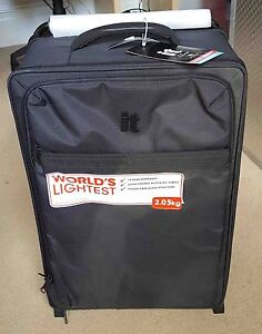 Linea Black 2 Wheel Soft Medium Suitcase New RRP £95