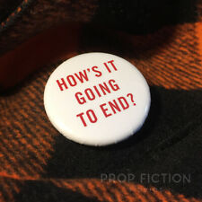 """Truman Show - Prop 'How's it Going to End?' 1.25"""" Button Badge / Cosplay Costume"""