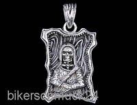 Ge Halskette echt 925 Silber 40-75cm mit Charm Anhänger Totenkopf 1,4cm Z340