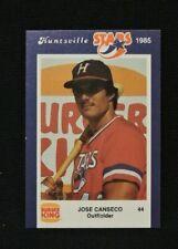 JOSE CANSECO MINOR LEAGUE BASEBALL CARD HUNTSVILLE STARS 1985 LEAGUE MVP