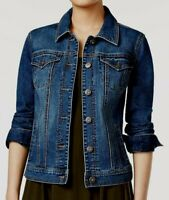 NEW Style & Co Women's Petite Stretch Denim Jacket in Mosaic Wash Size P/P $64