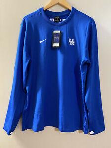 Nike Dri-FIT Kentucky Wildcats Men's Coaches Long Sleeve Blue L CQ5049-480 NCAA
