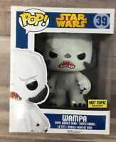 Funko POP! Star Wars #39 WAMPA [Hot Topic Exclusive] FLOCKED Imperfect Box A04