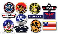 Top Gun Pete Mitchell MAVERICK Sticker Set - 12 Large Stickers size 47 x 26 cm
