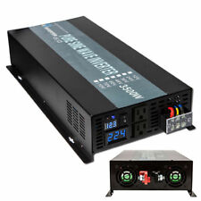 Pure Sine Wave Inverter 3500W 24V DC to 120V AC power inverter Car/Home Solar