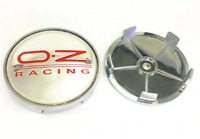 4x 68mm OZ Racing Silber Rot ABS Satz Alufelge Nabenkappen Felgendeckel Radmitte