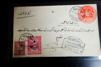 Turkey Stamps Pristine 1800's Classic Cover w/ ovpt stamps neatly tied