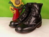 Schwarz Dr.Martens vtg Made in England Stiefel Größe 38/39 uk 6