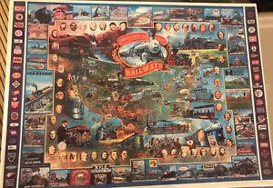 "NEW Sealed White Mountain Puzzle ""Historical American Railways"" 1000-Pieces"