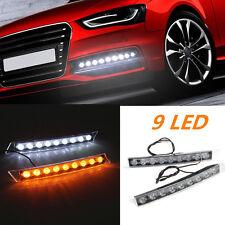 9LED Car DRL Light Daytime Turn Signal White Yellow LED Lamp for Lexus