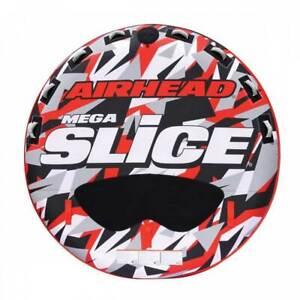 "Airhead AHSSL-42 Slice 100"" Inflatable Double Rider Towable Lake Tube Water Raft"