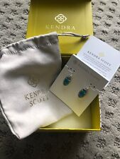 Kendra Scott Lee Oval Drop Earrings in Peacock Illusion and Rhodium