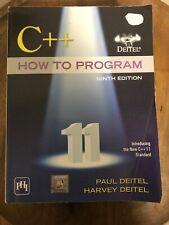 C++ How to Program (Early Objects Version) by Harvey Deitel and Paul Deitel...