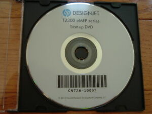 Original Start up disk for HP DesignJet T2300 Plotters.Drivers,Manuals,DVD,CD