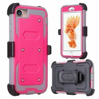 Apple iPhone 7 Case, Heavy Duty Holster w/ Built-in Screen Protector Cover hp