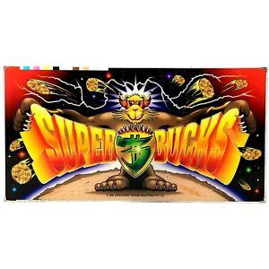 Super Bucks Aristocrat Poker Pokies Gaming Machine Advertising Game Artwork 1998