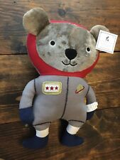 Pottery Barn Kids Bear Space Plush Pillow NWT Sold Out! Astronaut