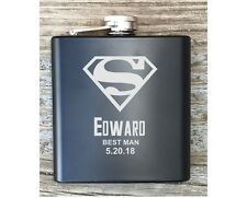 Personalized Best Man Superman Inspired Flask Great Best Man Usher Gift