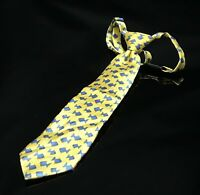 The Children's Place Boys Yellow With Blue Fish Neck Tie
