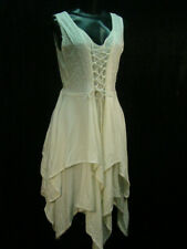 Chemise emboidery hippy boho bohemian Renaissance faire wedding dress size S/M