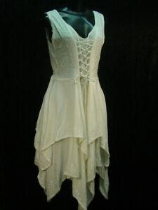 Chemise emboidery hippy boho bohemian Renaissance faire wedding dress size L/XL