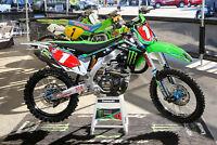 Monster Energy Kawasaki GRAPHICS KIT KXF 450 2012 - 2015 AMA Supercross