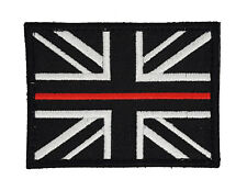 FIRE & RESCUE SERVICE THIN RED LINE  UNION JACK FIRE FIGHTERS PATCH BADGE SEW ON