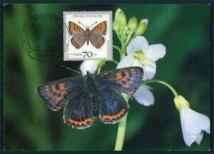GERMANY MK 1991 FAUNA BUTTERFLIES BUTTERFLY PAPILLON CARTE MAXIMUM CARD MC aj40