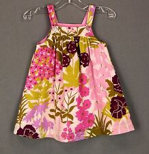 275 Pink Chicken Girl Bohemian Hippie Dress sleeveless ruffle EUC Sz 12M