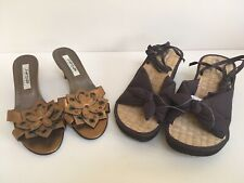 Ladies Slip On Shoes And Wedge Sandals Size 5