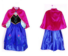 Frozen Anna Princess Cosplay Costume Party Fancy Dress with Cape Girls Gift AU