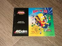 The Simpsons Bart vs the World Instruction Manual Booklet Nintendo Nes Authentic
