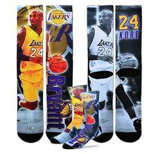 *NEW* Kobe Bryant Los Angeles Lakers Socks by Bare Feet Licensed-large