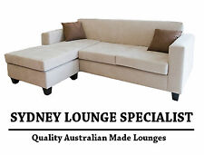 AUSTRALIAN MADE New Mossvale 3 seater chaise Modular (Suede) Lounge Couch