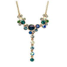 Collana Donna Cristallo Swarovski Elements Ciondolo Verde Multicolore S32