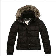 Abercrombie & Fitch Corrine Faux Fur Down Jacket Brown $200 XS