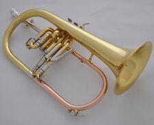 Prof. Gold Lacquer Bb Flugelhorn Flugel Horn Rose brass Cupronickel tuning pipe