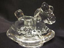 "Glass Rocking Horse Pony Candle Holder Christmas Figurine 3"" Free Us Ship"