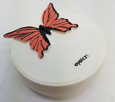 Pink Butterly Coloured Contact Lens Travel Kit - Mirror - Case - Tweezers