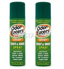 2 X  Odor-Eaters Sports Foot & Shoe Spray (150ml each) MAXIMUM STRENGTH