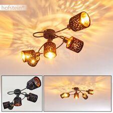 Retro Samt Decken Leuchte schwarz/gold Flur Wohn Schlaf Zimmer Lampe verstellbar