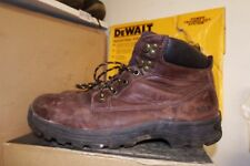 SITE MILESTONE BROWN LEATHER SAFETY BOOTS STEEL TOE - SZ 11 - S1P SRA ~ AA133