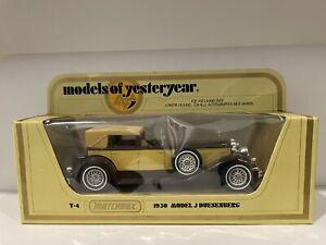 Matchbox Models Of Yesteryear Y-4 1930 Model J Duesenberg Made in England 1978