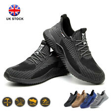 New Mens Safety Trainers Shoes Boots Work Steel Toe Cap Lightweight Sports UK J1