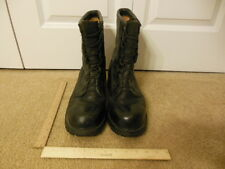 Vibram Work Laced Mens Shiny Black Leather Gently Used Boots Size 12 R 12R #75