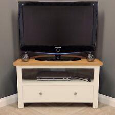 Cotswold Cream Painted Corner Oak TV Unit / Plasma / Solid Wood / TV Stand / New