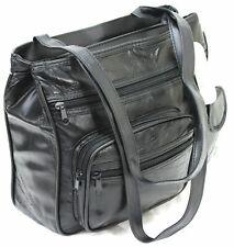 Women Ladies Genuine Lorenz Patch Leather Organizer Shoulder Bag Handbag Ad26