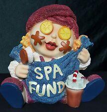 "Resin Spa Bank Piggy Bank Facial Spa Fund 9"" Tall 9"" Width 9"" Depth"